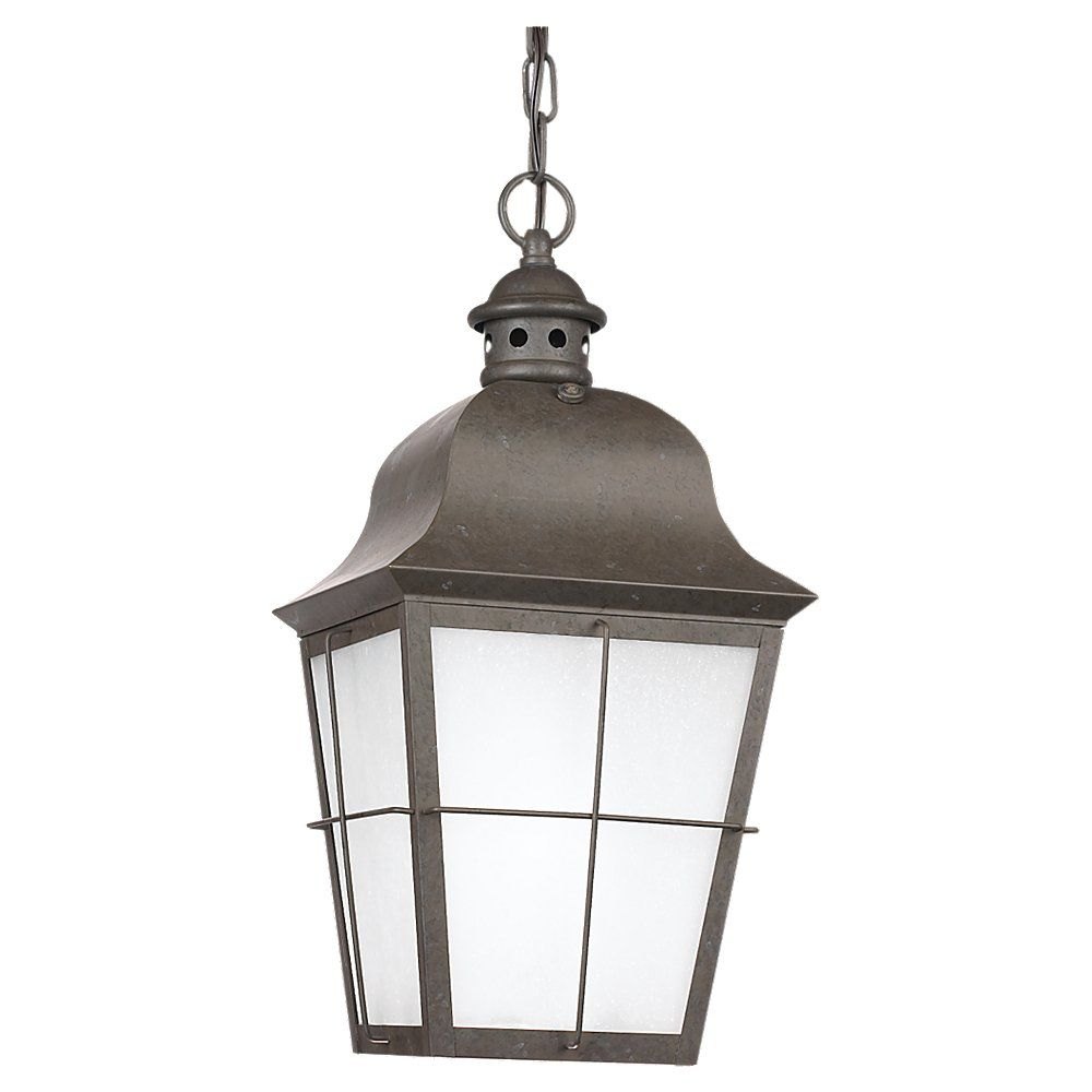 1 Lumière oxydé Pendentif Bronze extérieur Fluorescent