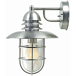Illumine 1 Light Wall Sconce Steel Finish