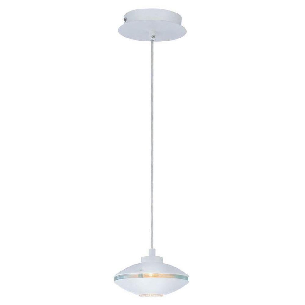 1 Light Pendant White Finish CLI-LS444459 Canada Discount