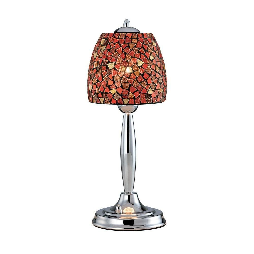 1 Light Table Lamp Steel Finish Red Mosaic Shade CLI-LS431367 Canada Discount