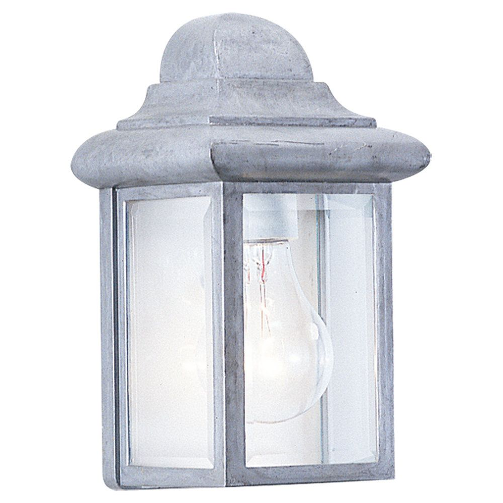 1 Light Pewter Incandescent Outdoor Wall Lantern