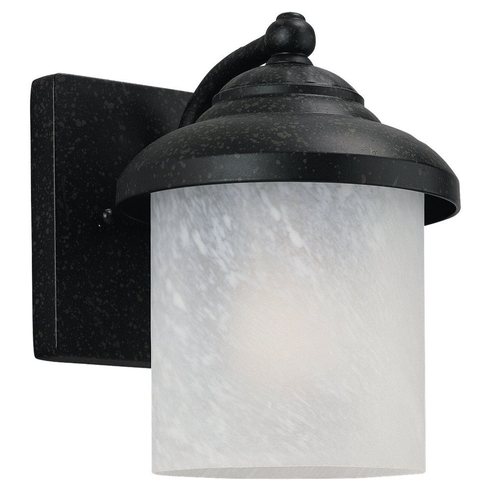 1-Light Forged Iron Outdoor Wall Lantern