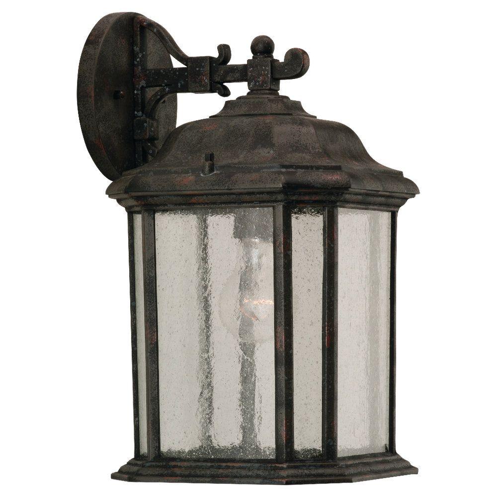 1 Light Oxford Bronze Incandescent Outdoor Wall Lantern