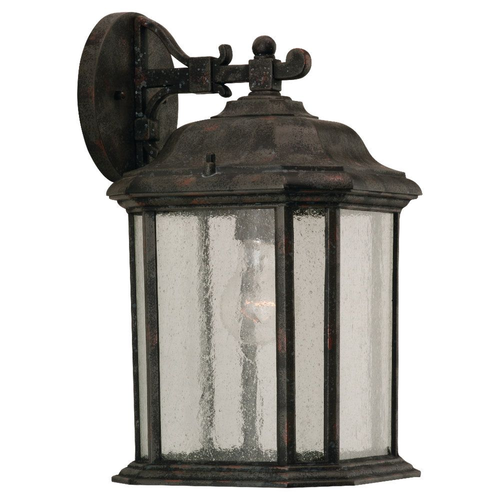1-Light Oxford Bronze Outdoor Wall Lantern