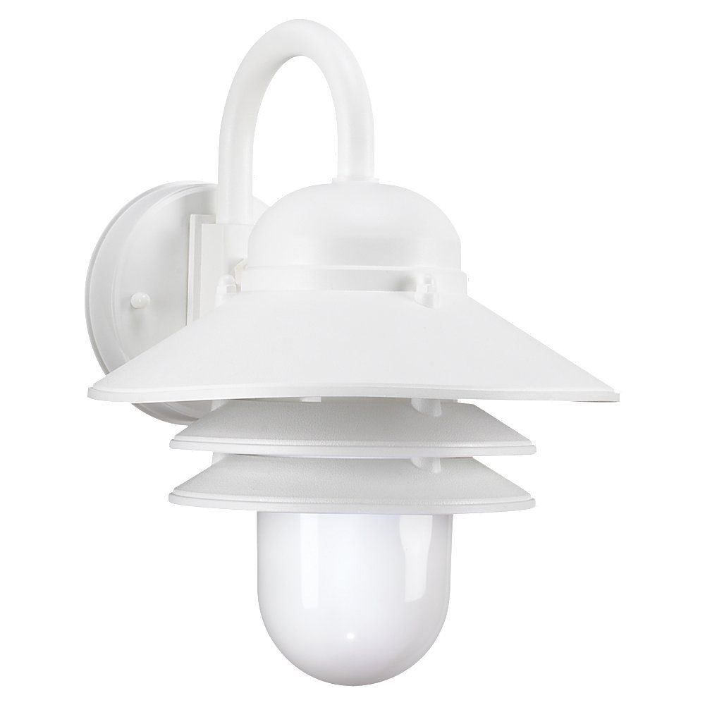 1 Light White Fluorescent Outdoor Wall Lantern