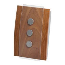 Honeywell Carillon et sonnette sans fil décoratif - fini bois et accents en verre