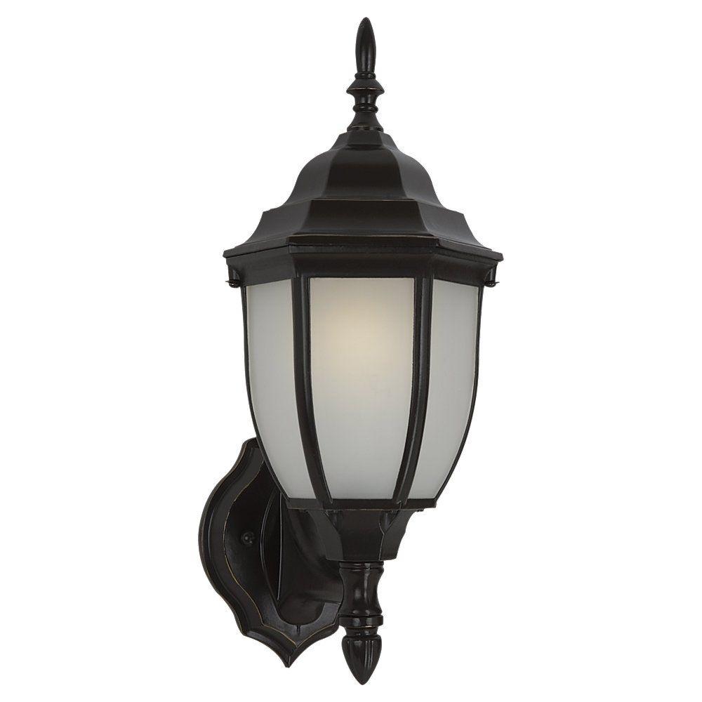 1 Light Heirloom Bronze Fluorescent Outdoor Wall Lantern