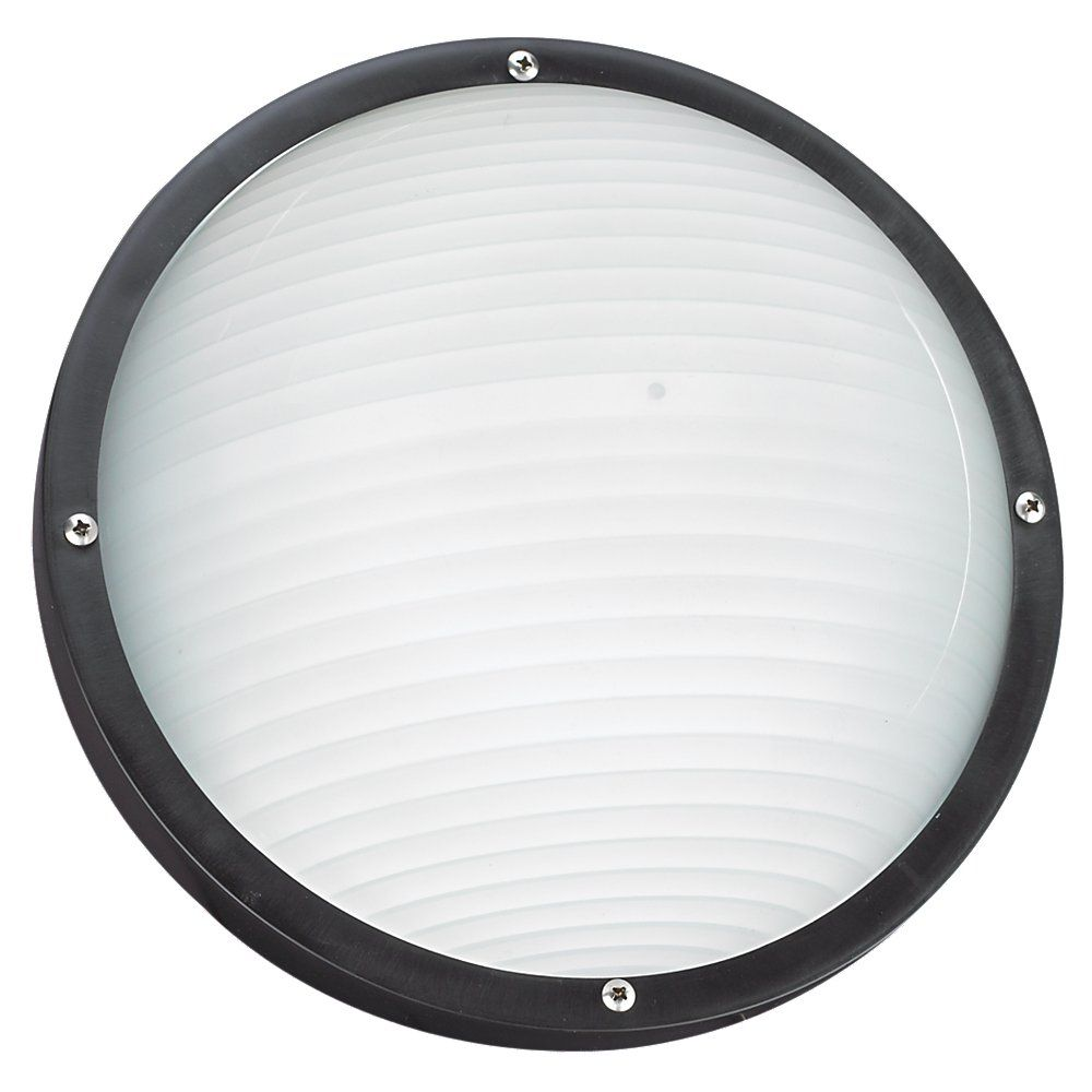 1-Light Black Outdoor Wall or Ceiling Fixture