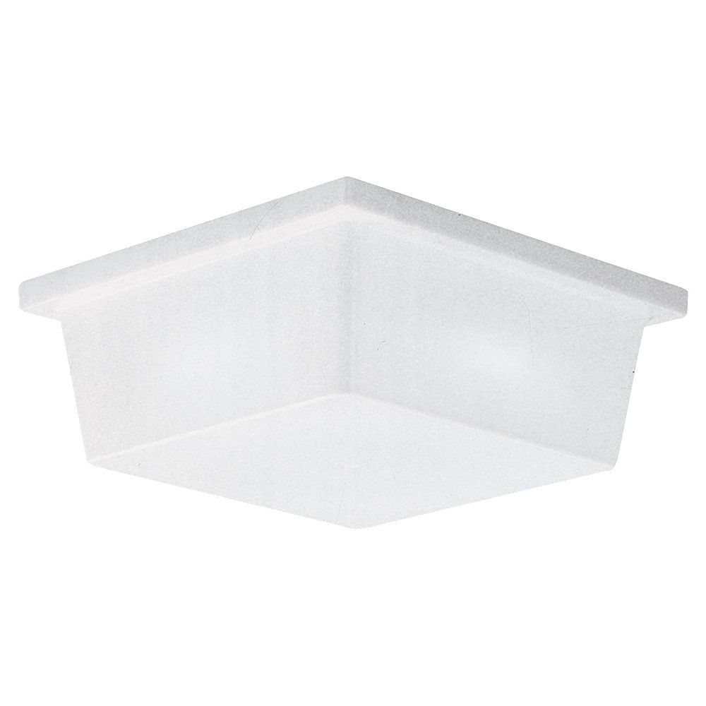 2 Light White Plastic Fluorescent Wall Or Ceiling Fixture