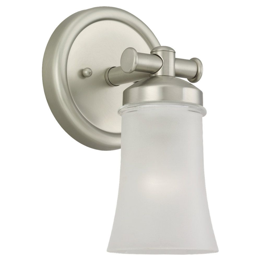 1-Light Antique Brushed Nickel Sconce