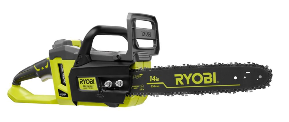 14-inch 40V Brushless Li-Ion Cordless Chainsaw - 1.5 Ah Battery and Charger Included