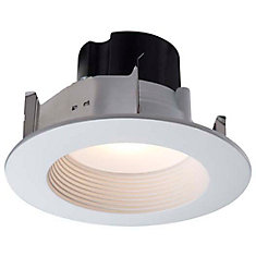4 Inch LED Retrofit Kit-Matte White Baffle and Trim Ring - ENERGY STAR ®