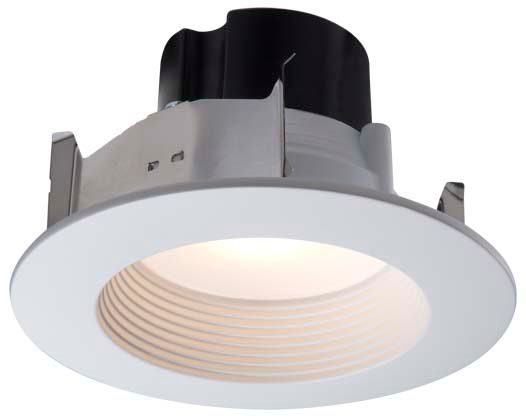 4 Inch LED Retrofit Kit-Matte White Baffle and Trim Ring