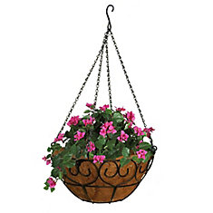 16 Inch Heart Scroll Hanging Basket