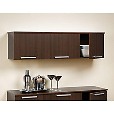 Espresso Coal Harbor Wall Mounted Hutch
