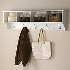 Entzuckend White 60 Inch Wide Hanging Entryway Shelf