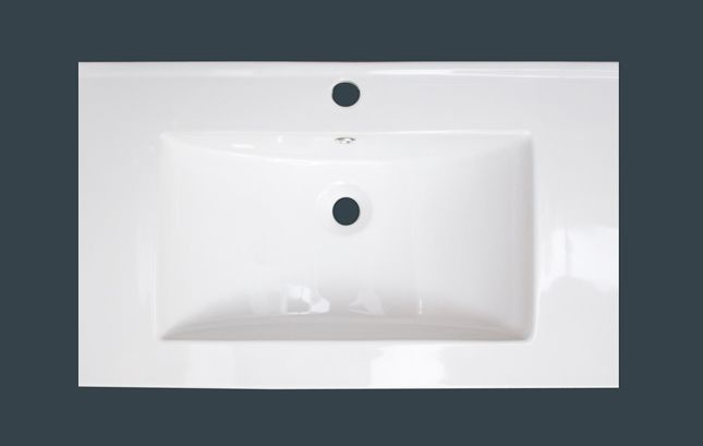 32-inch W x 18-inch D Ceramic Top with Single Hole in White