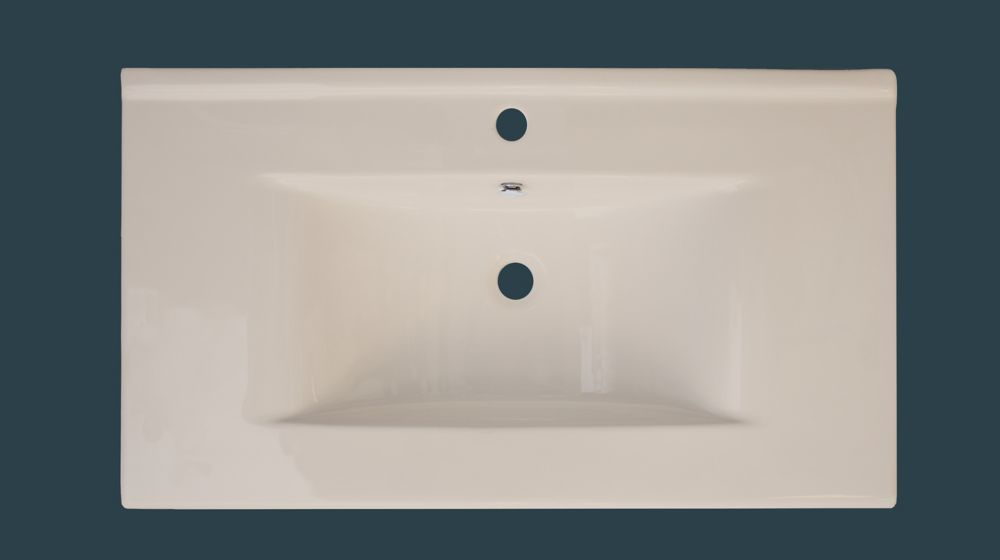 36-inch W x 20-inch D Ceramic Top with Single Hole in Biscuit