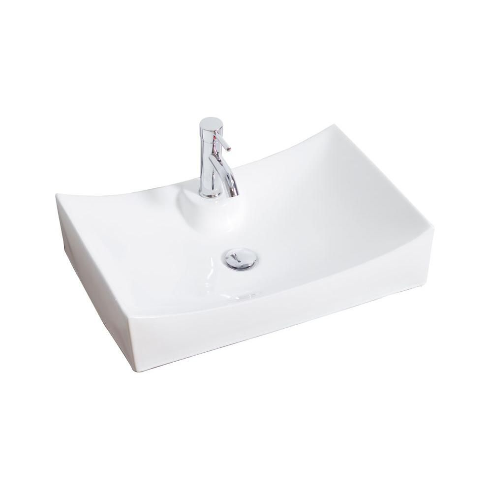 Glacier bay rectangular vessel sink the home depot canada - Glacier bay drop in bathroom sink ...