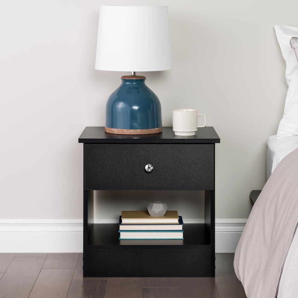 Black Edenvale Nightstand