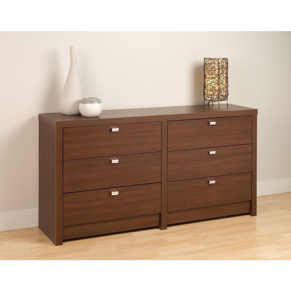 Warm Cherry Series 9 Designer 6 Drawer Dresser