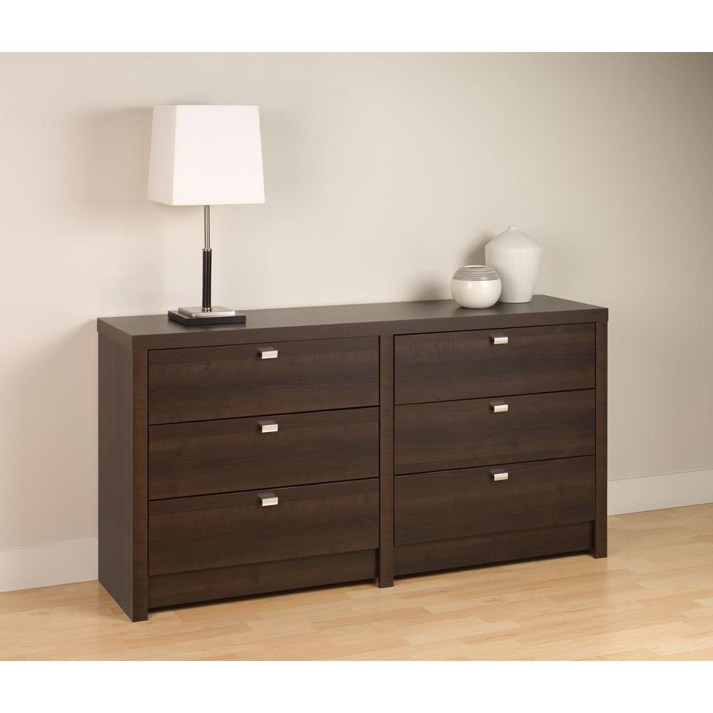 Espresso Designer Series 9  6 Drawer Dresser
