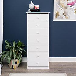 Prepac Edenvale 20-inch x 50.5-inch x 17.5-inch 7-Drawer Chest in White