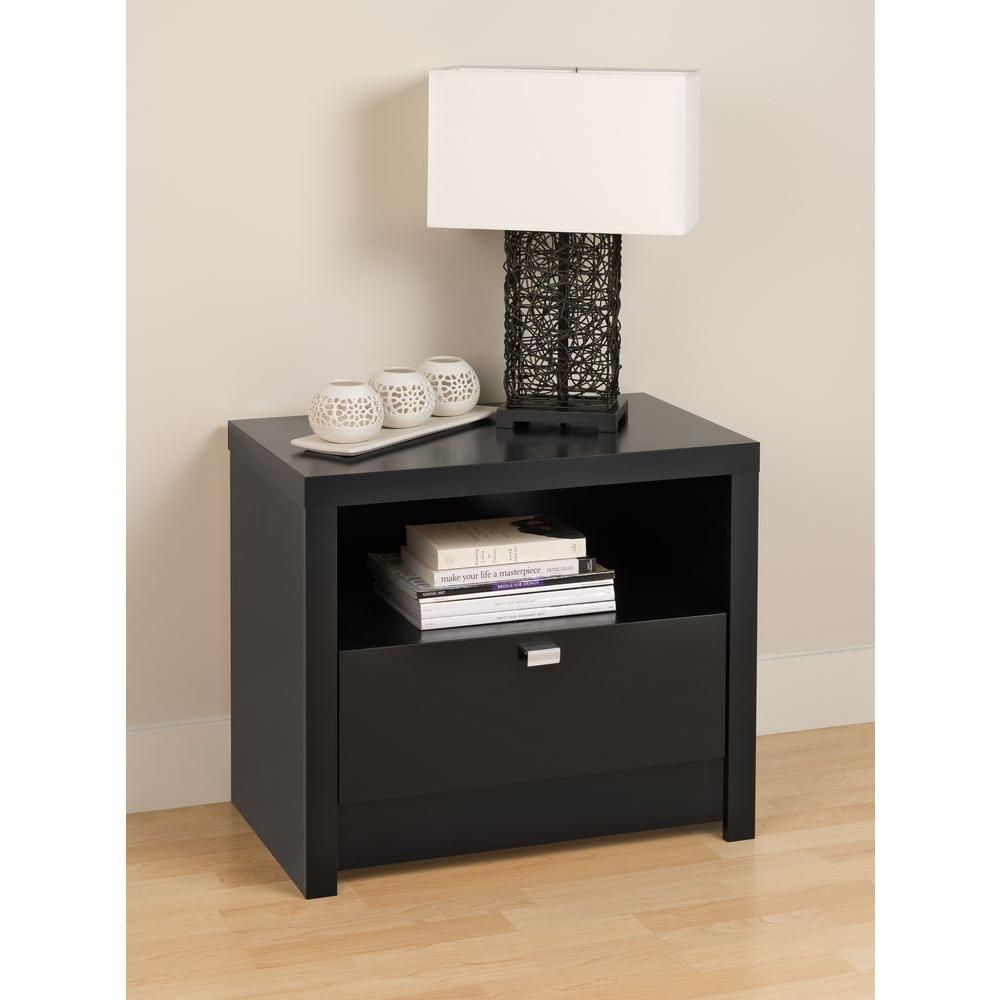 Black Designer Series 9 - 1 Drawer Nightstand