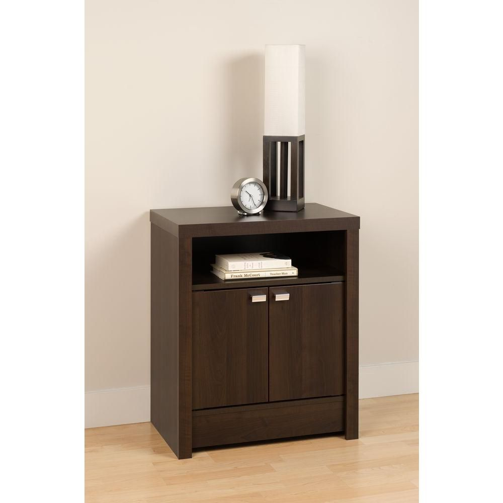 Espresso Designer Series 9 - 2 Door Tall Nightstand