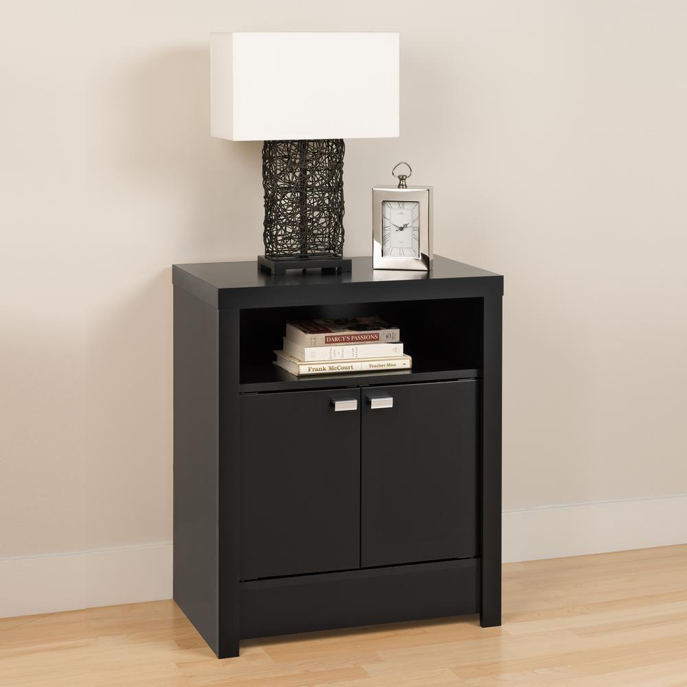 Black Designer Series 9 - 2 Door Tall Nightstand