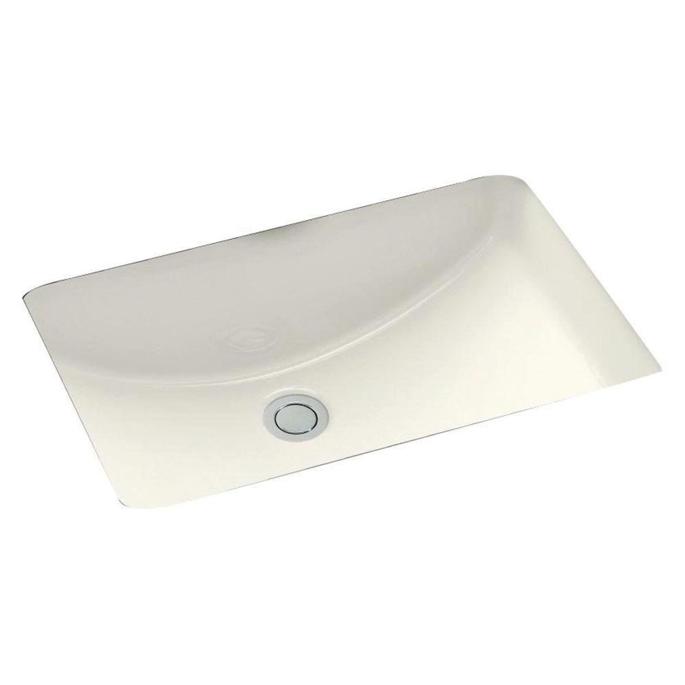 American Imaginations 18 1/4-inch W x 13 1/2-inch D Rectangular Undermount Sink in Biscuit