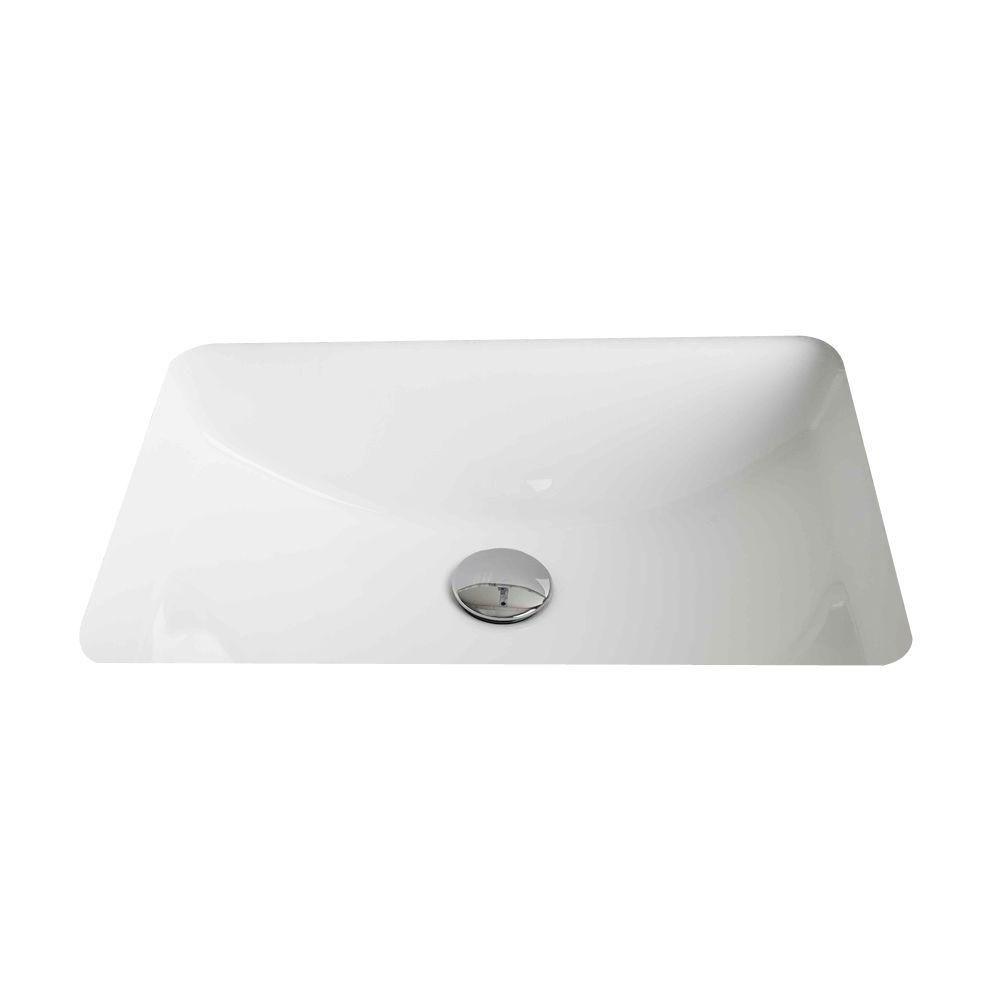 American Imaginations 20 3/4-inch W x 14 7/20-inch D Rectangular Undermount Sink in White