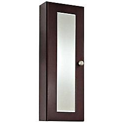 American Imaginations 12 Inch x 36 Inch Cherry Wood Reversible Door Medicine Cabinet in Coffee Finish