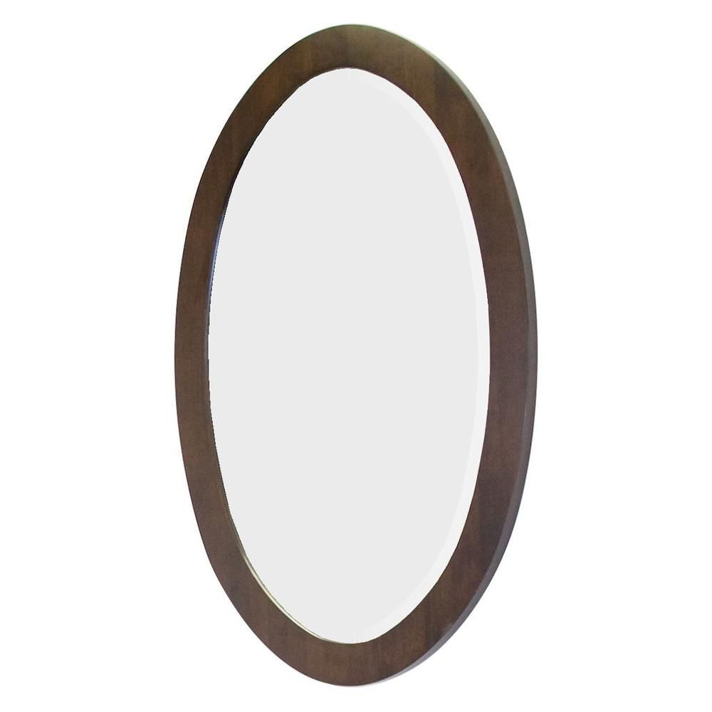 American imaginations 24 inch x 36 inch oval wood framed for Oval mirror canada