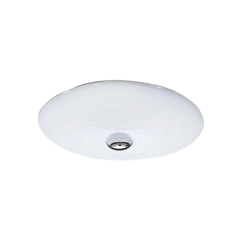 American Imaginations 19 1/2-inch W x 16 1/4-inch D Oval Undermount Sink in White