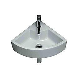 American Imaginations Ceramic Corner Vessel Sink White