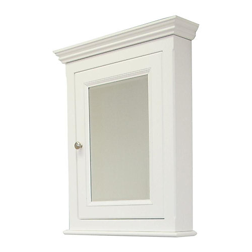 22.5-in. W x 30-in. H Traditional Birch Wood-Veneer Medicine Cabinet In White