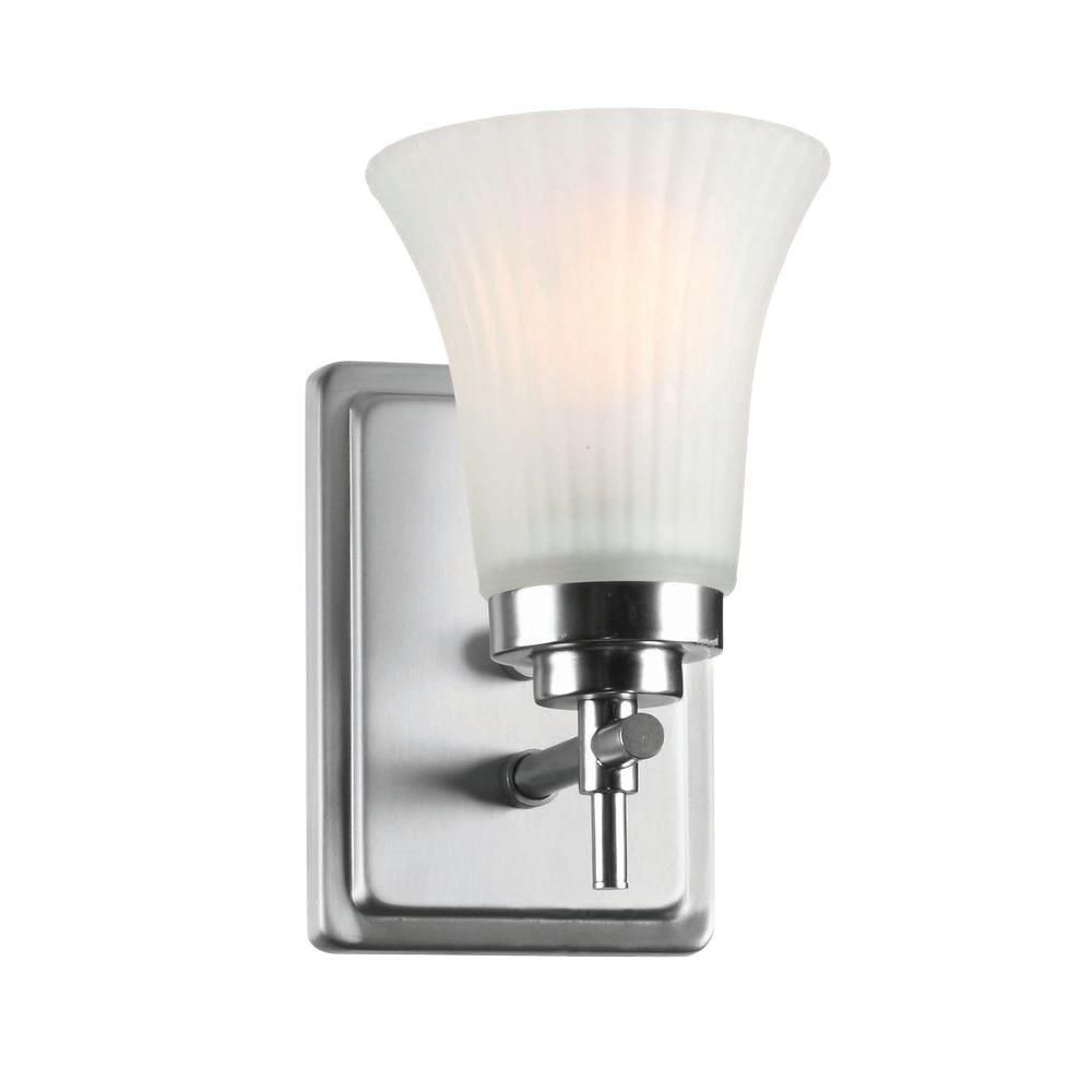 1 Light Wall Sconce Steel Finish Frost Glass Shade CLI-LS435778 in Canada