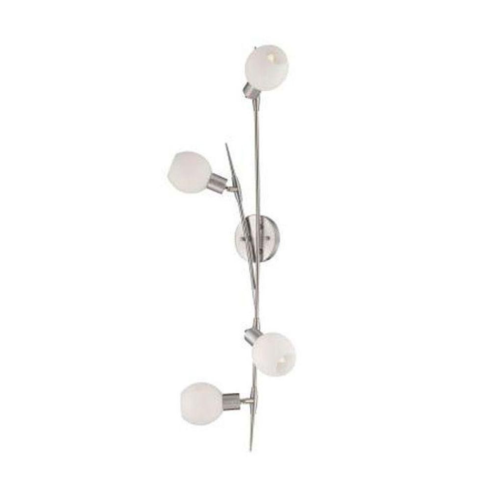 illumine lampe quatre ampoules avec abat jour givr finition de sp cialit home depot canada. Black Bedroom Furniture Sets. Home Design Ideas