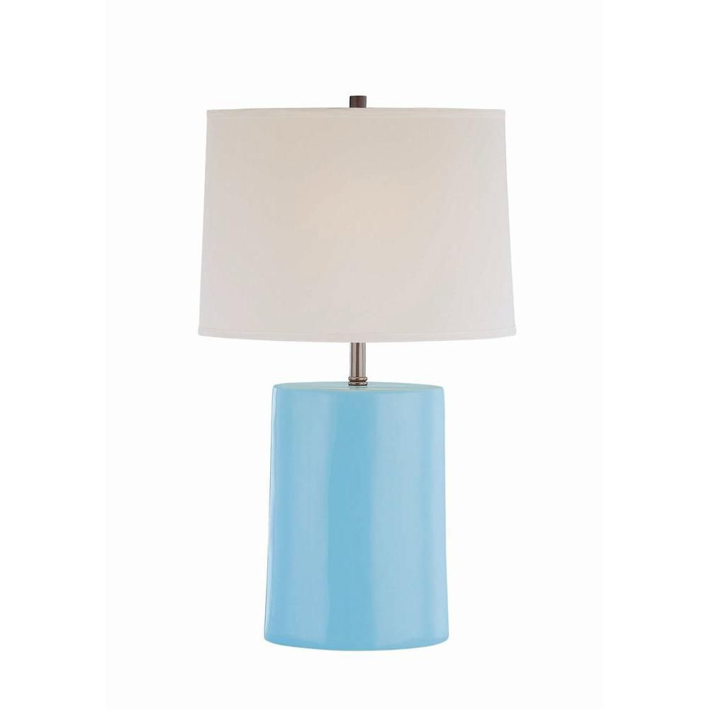 1 Light Table Lamp Blue Finish Fabric Shade CLI-LS442998 in Canada