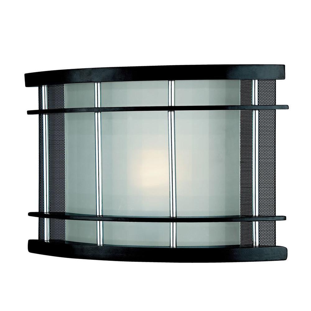 Lampe à une ampoule avec abat-jour givré, finition de spécialité