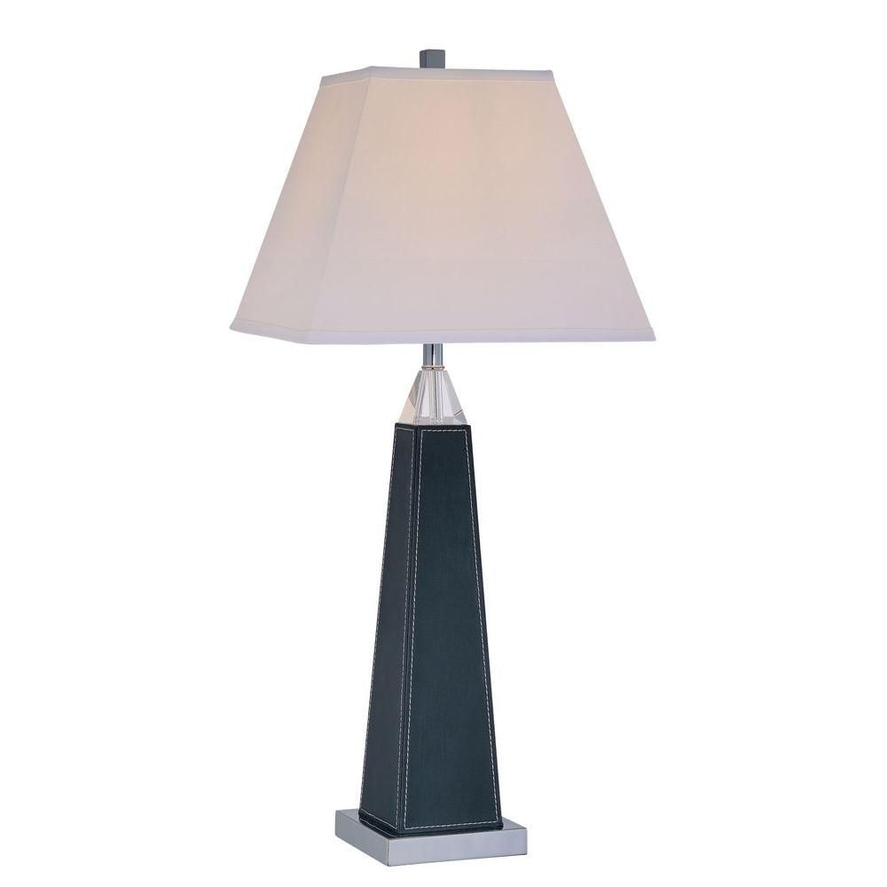 1 Light Table Lamp Black Finish White Fabric Shade CLI-LS444879 in Canada