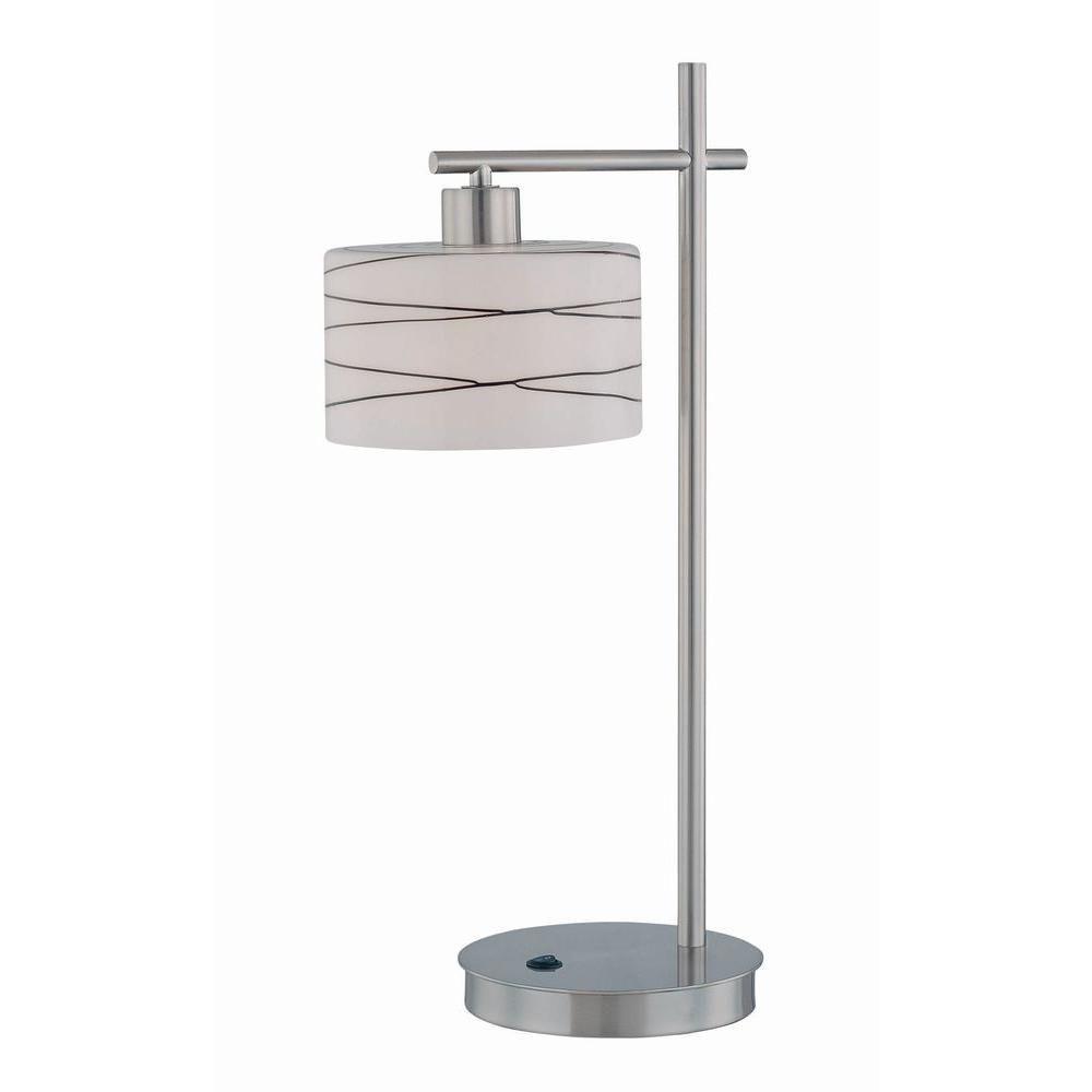 Lampe Illumine à une ampoule avec abat-jour de spécialité, finition de spécialité