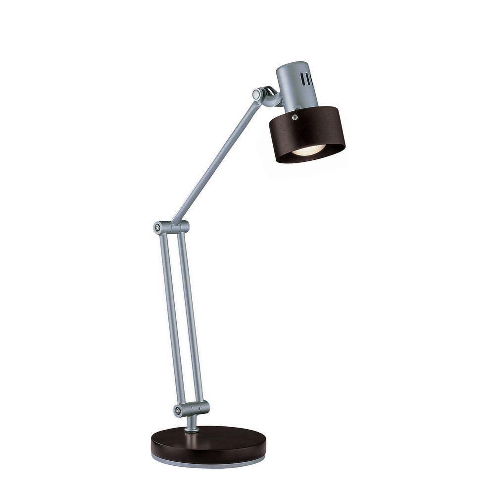 Lampe à une ampoule avec , Fini argent