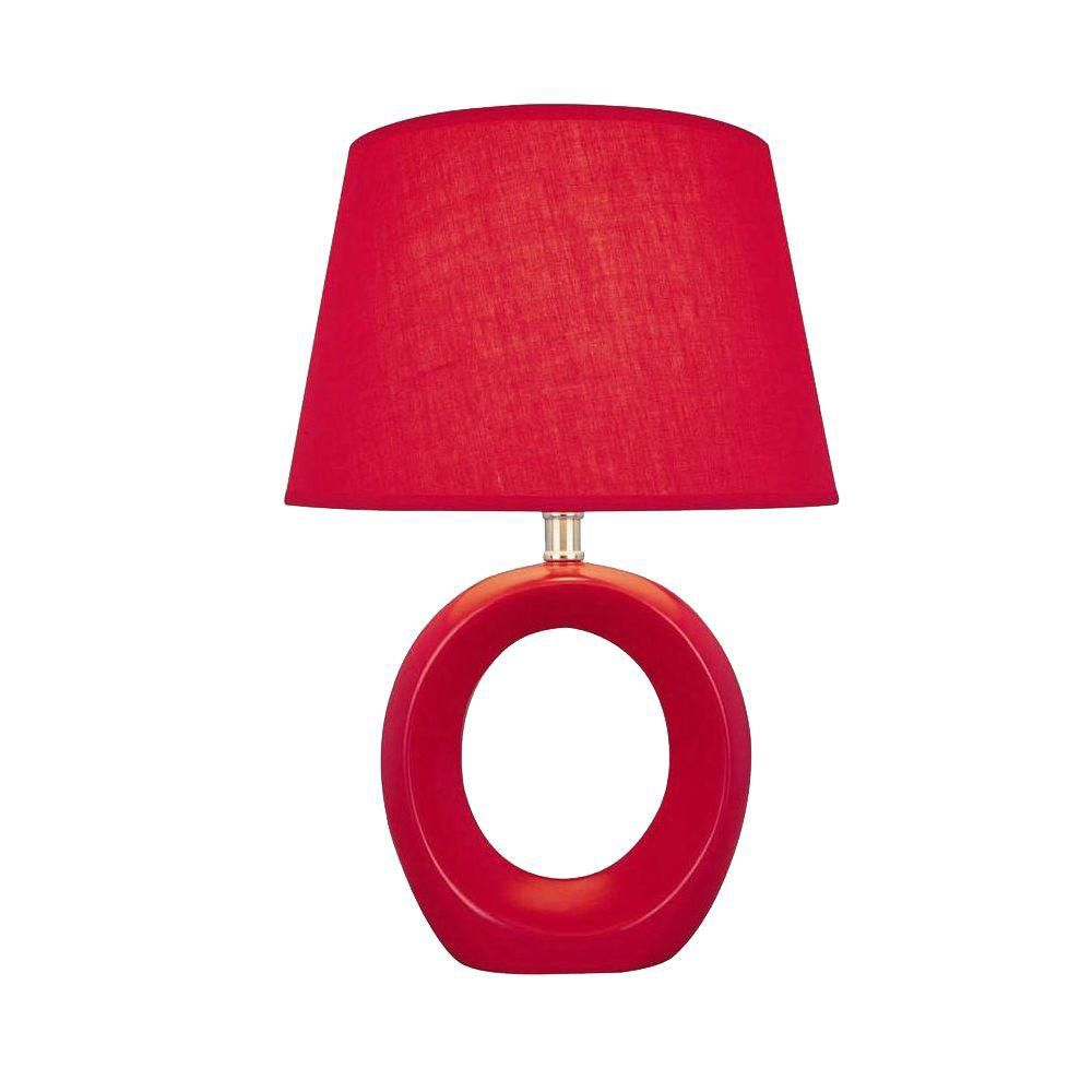 1 Light Table Lamp Red Finish