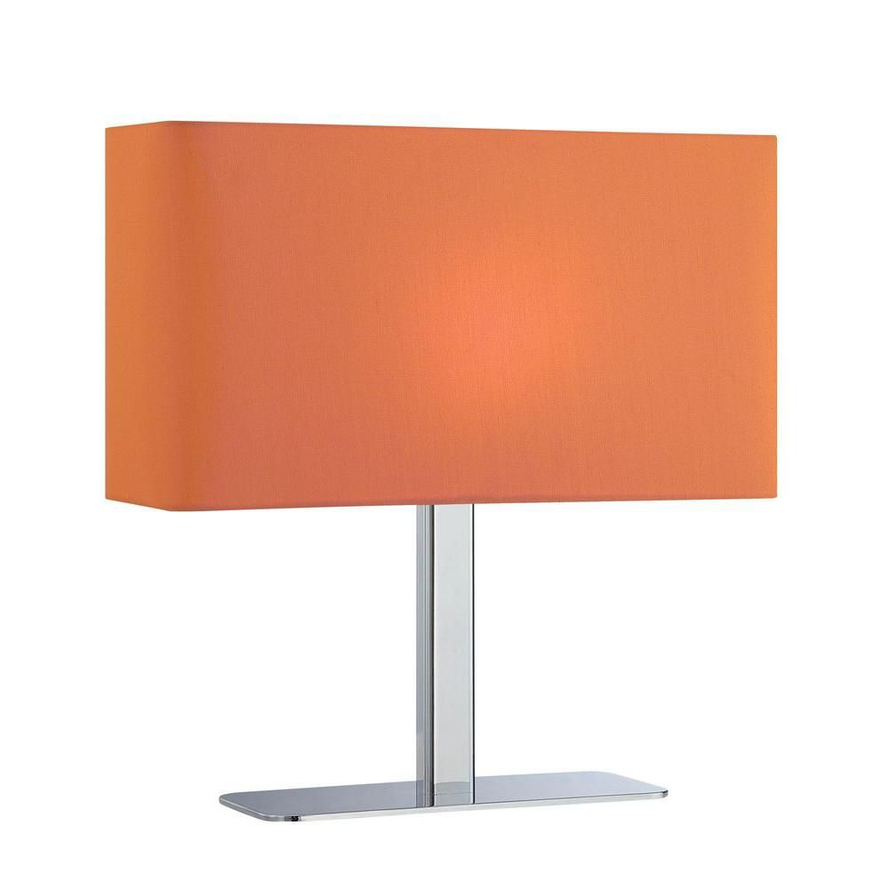 1 Light Table Lamp Chrome Finish Orange Fabric Shade CLI-LS450184 in Canada