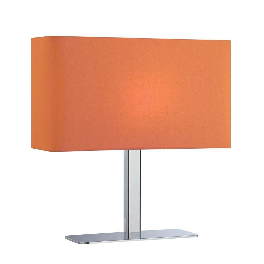 1 Light Table Lamp Chrome Finish Orange Fabric Shade CLI-LS450184 in Canada