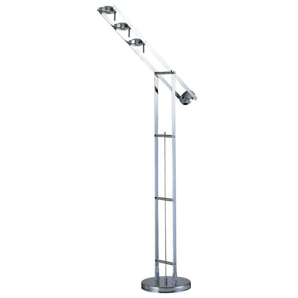 Zuo Modern 80 Inch Galactic Floor Lamp In Chrome The Home Depot Canada