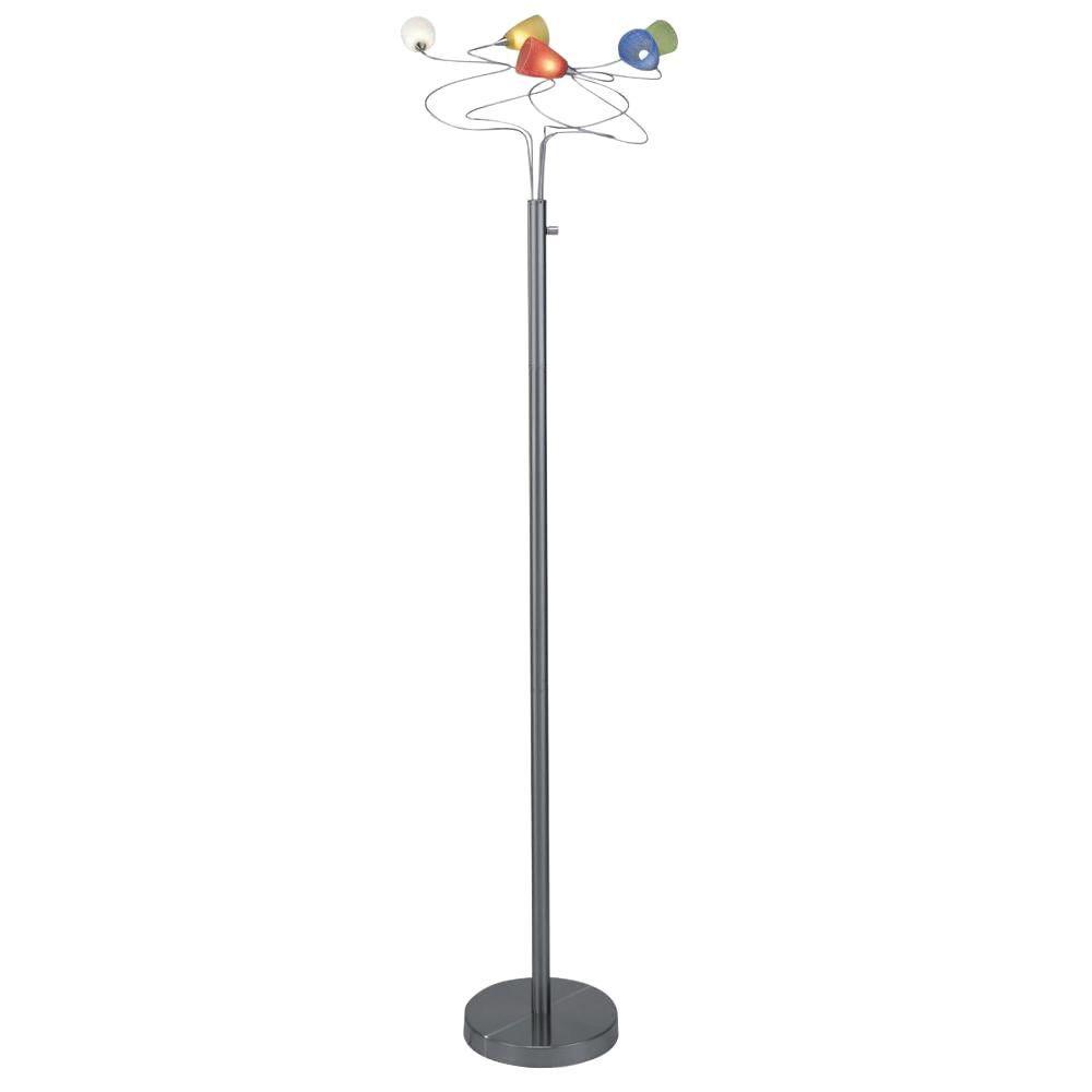 Lampe à cinq ampoules avec abat-jour de spécialité, finition de spécialité