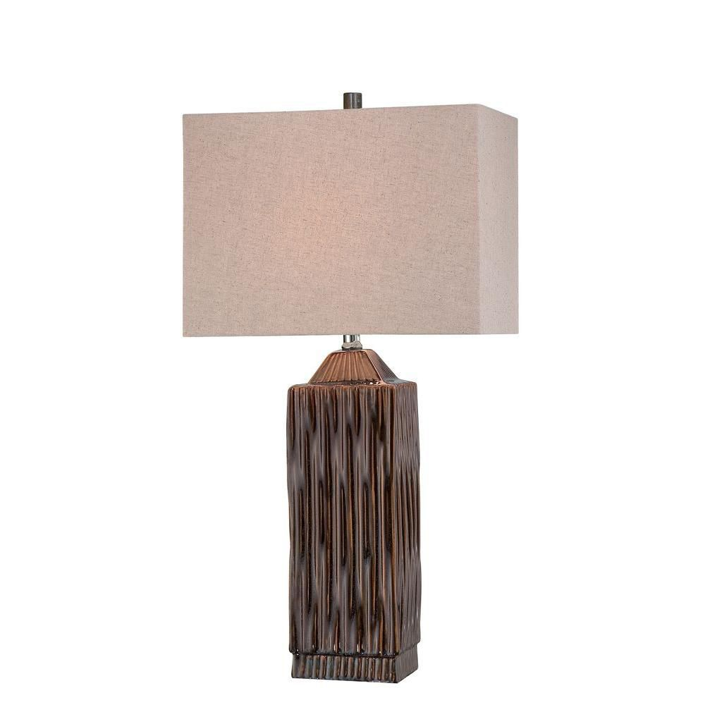 1 Light Table Lamp Walnut Finish